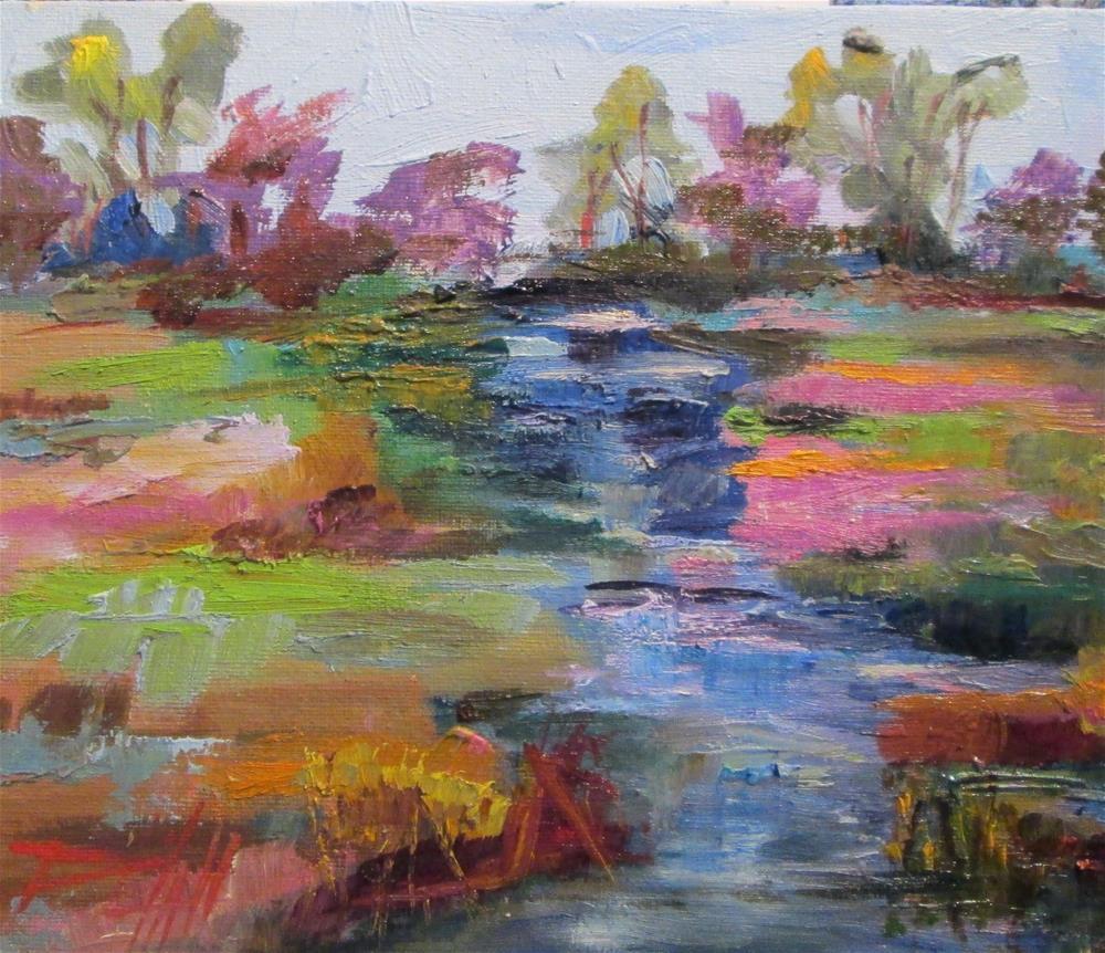 """Marshland"" original fine art by Delilah Smith"