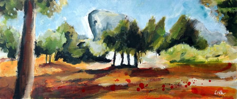 """""""2881 Majorcan Landscape"""" original fine art by Dietmar Stiller"""