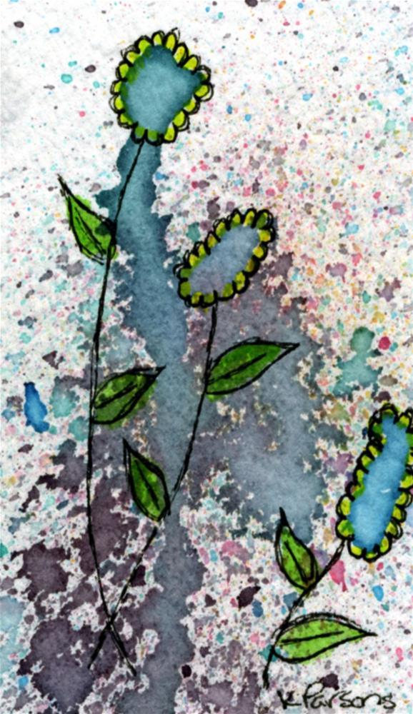 """Turquoise Trio"" original fine art by Kali Parsons"