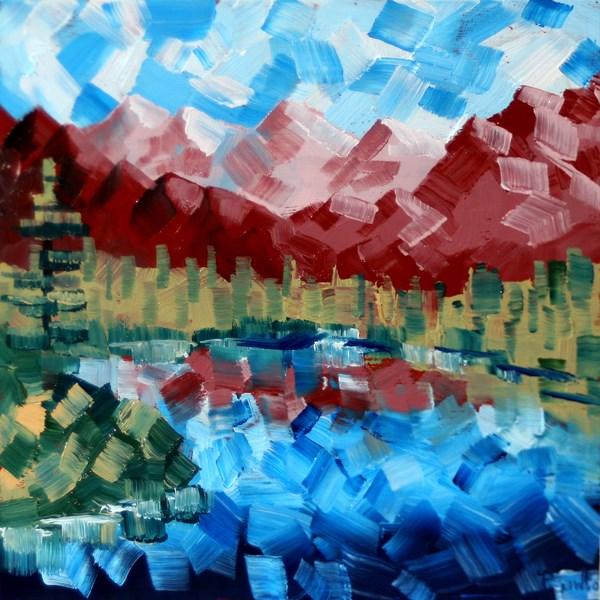 """Mark Adam Webster - Abstract Landscape Oil Painting 7-23-10"" original fine art by Mark Webster"