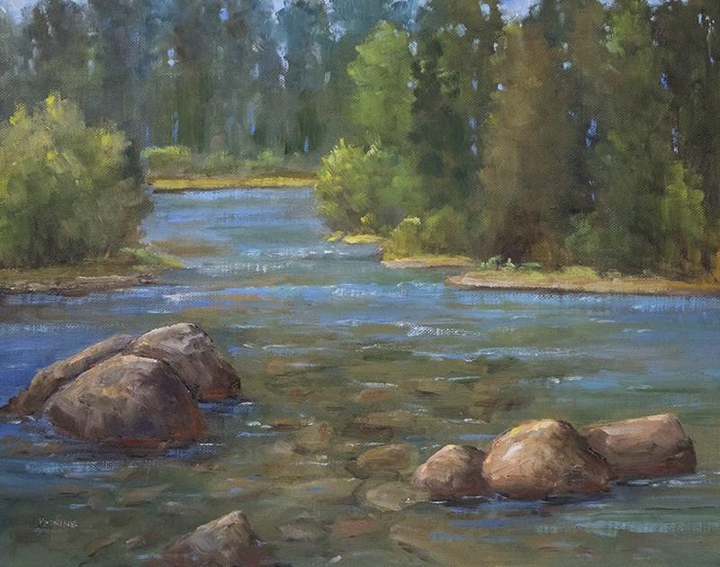 """""""Poudre River"""" original fine art by Bonnie Bowne"""