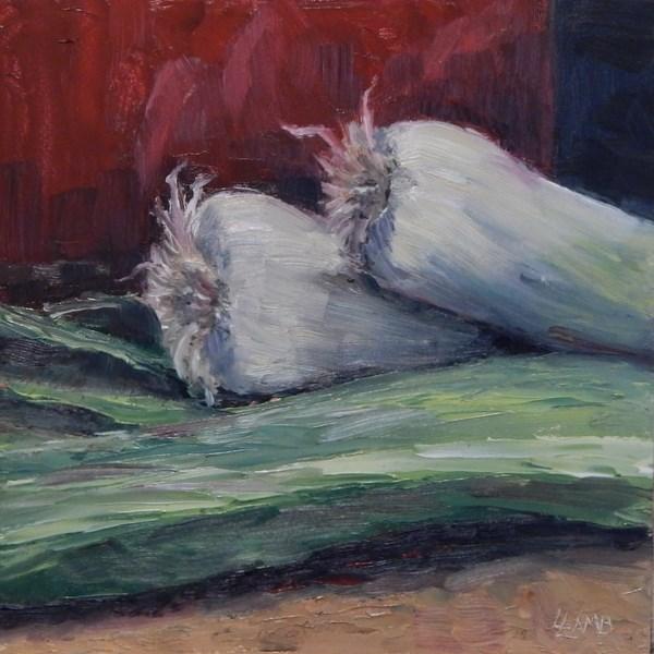 """""""Leeks"""" original fine art by Lori L. Lamb"""