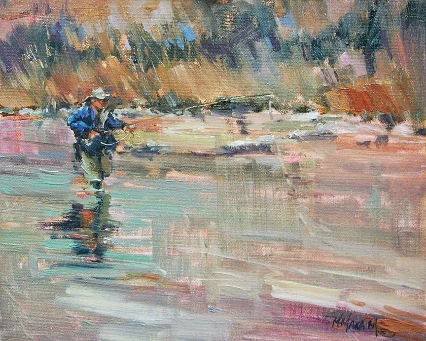 """A Day On The Water"" original fine art by Mary Maxam"