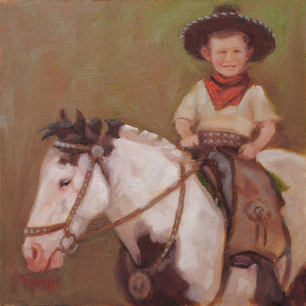 """Li'l Cowpoke Memories #2"" original fine art by Cecile W. Morgan"