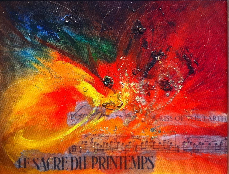 """The Rite of Spring"" original fine art by Patti Adams"
