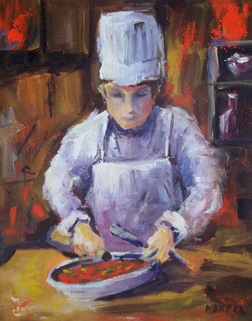 """Prepping"" original fine art by Alice Harpel"