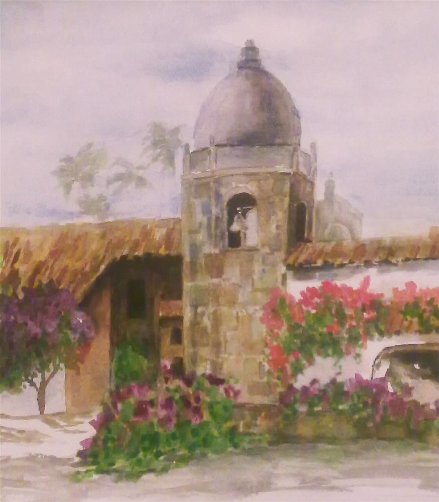 """""""Carmel Mission"""" original fine art by Jules Fine Art Gallery"""