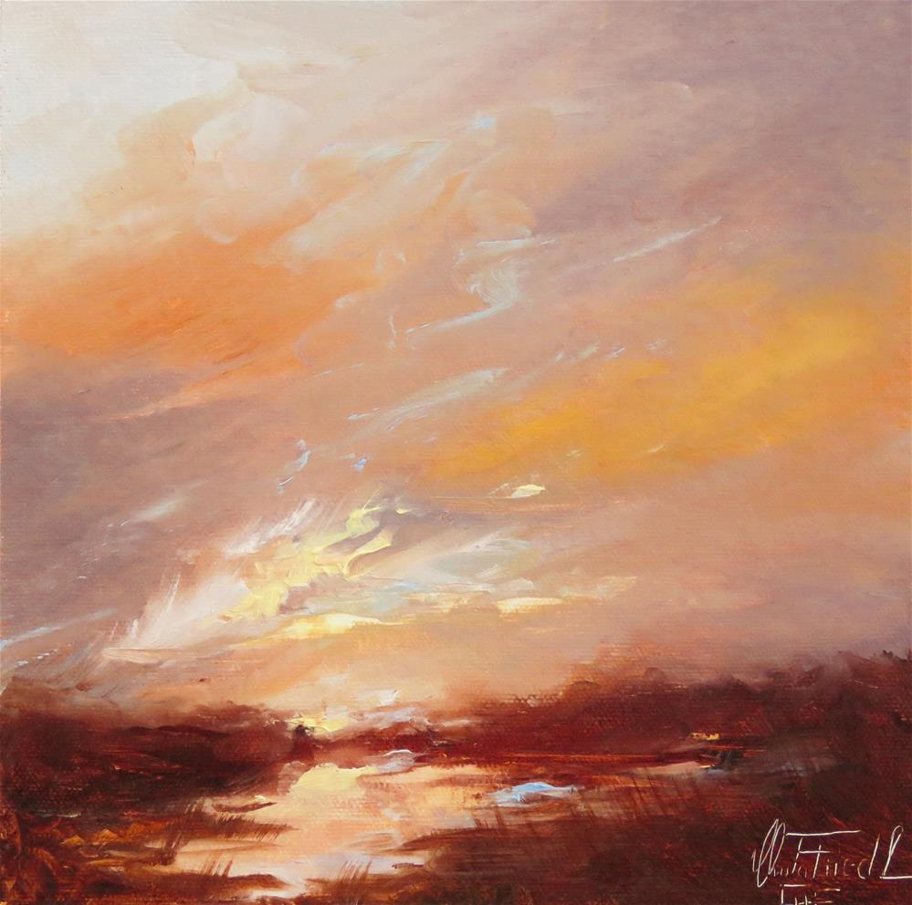 """At the end of a beautiful day"" original fine art by Christa Friedl"