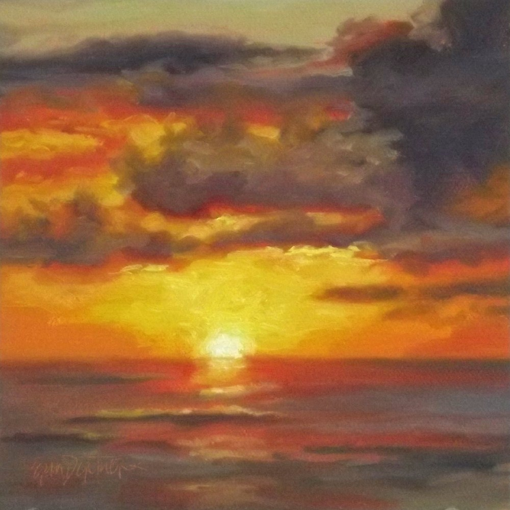 """Golden Finale"" original fine art by Erin Dertner"