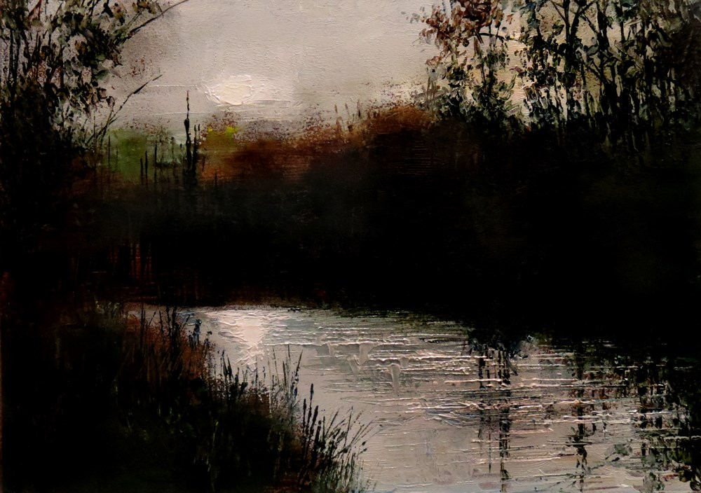 """A River in the Woods"" original fine art by Bob Kimball"