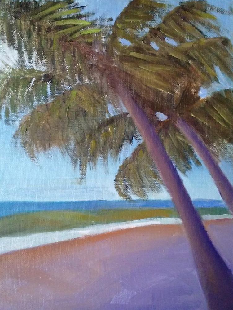 """""""Palm Trees"""" original fine art by Gerri Obrecht"""