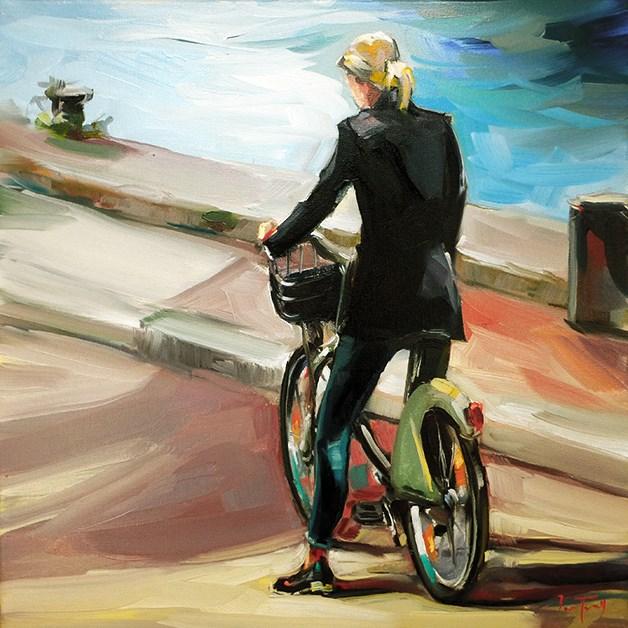 """Radlerin"" original fine art by Jurij Frey"