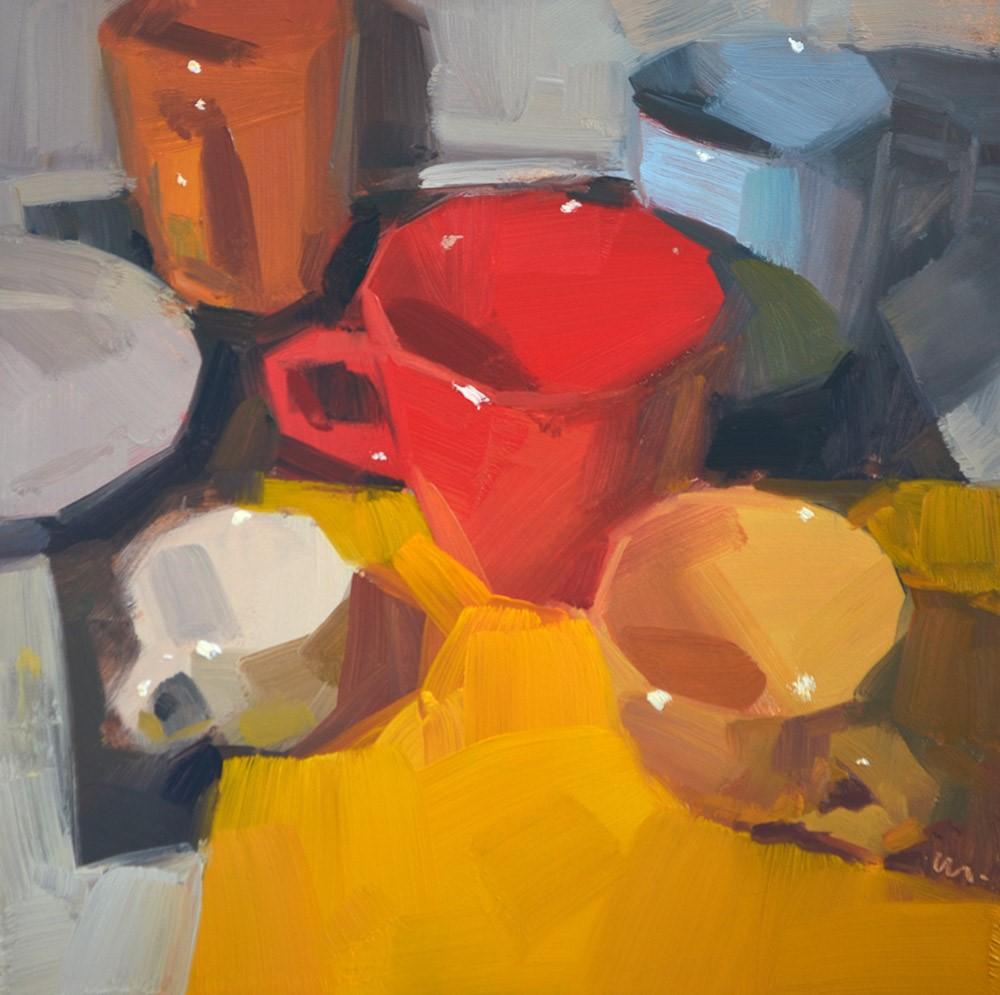 """Cups Coming Together"" original fine art by Carol Marine"