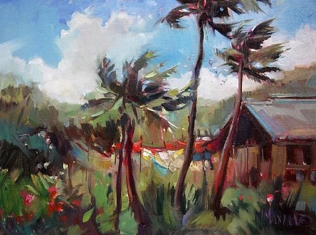 """Island Breeze"" original fine art by Mary Maxam"
