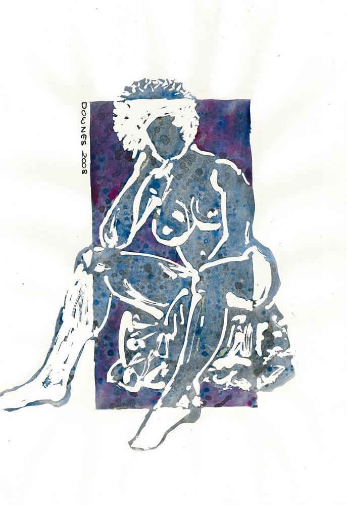 """214 STYLISED LIFE SKETCH 2"" original fine art by Trevor Downes"