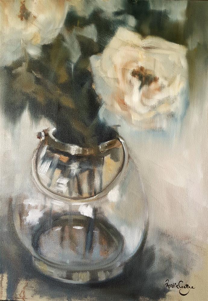 """Ivory petals"" original fine art by Rentia Coetzee"