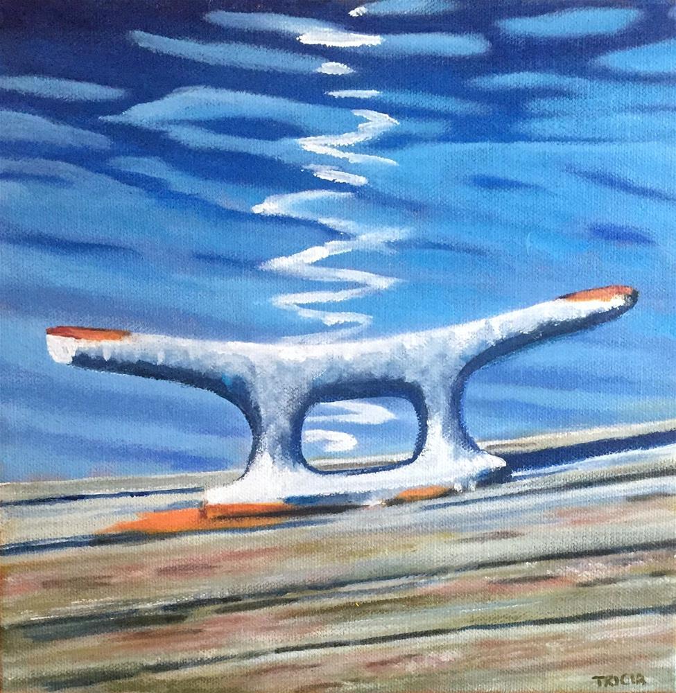 """""""Boat Cleat Framed"""" original fine art by Tricia Granzier"""