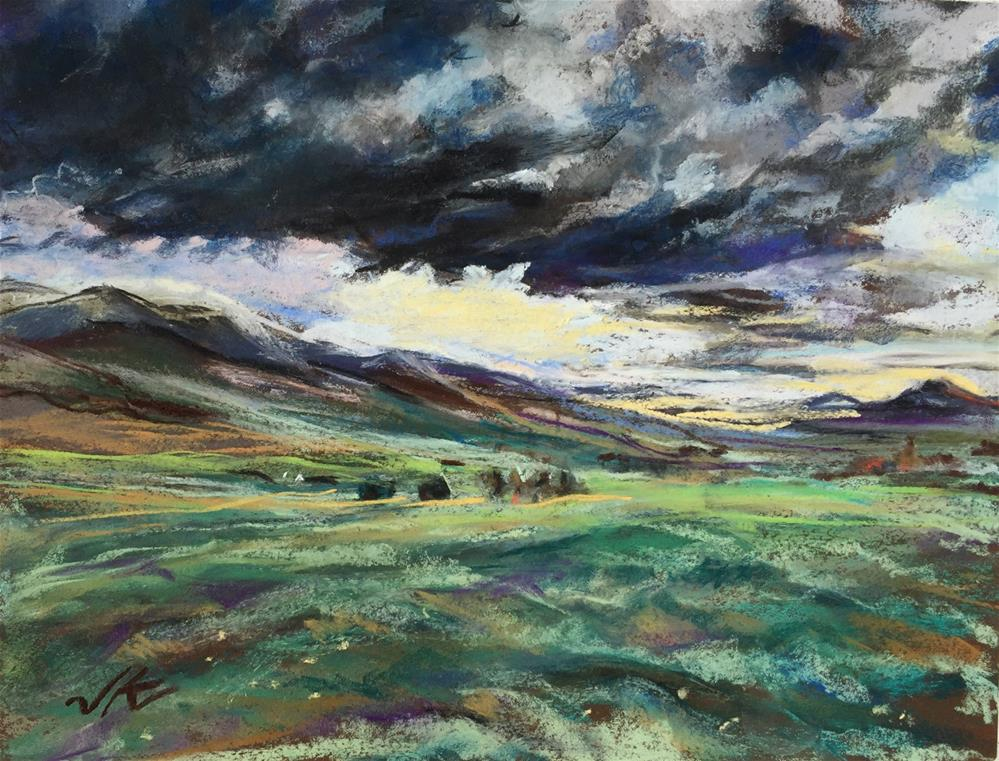 """Sangre de cristos Looking NW"" original fine art by Jean Krueger"