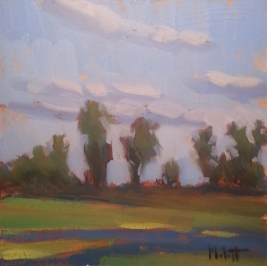 """Plein Air Along the Way Landscape Oil Painting"" original fine art by Heidi Malott"