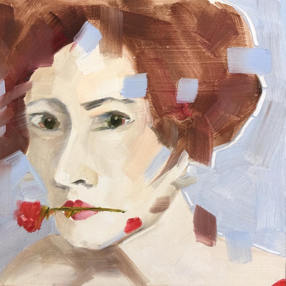 """""""259 Evelyn"""" original fine art by Jenny Doh"""