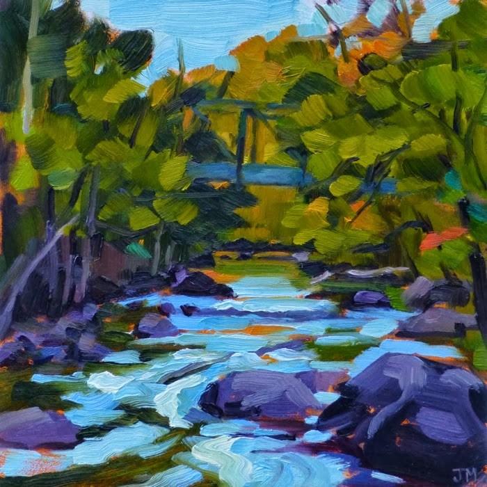 """Quaker Bridge"" original fine art by Jessica Miller"
