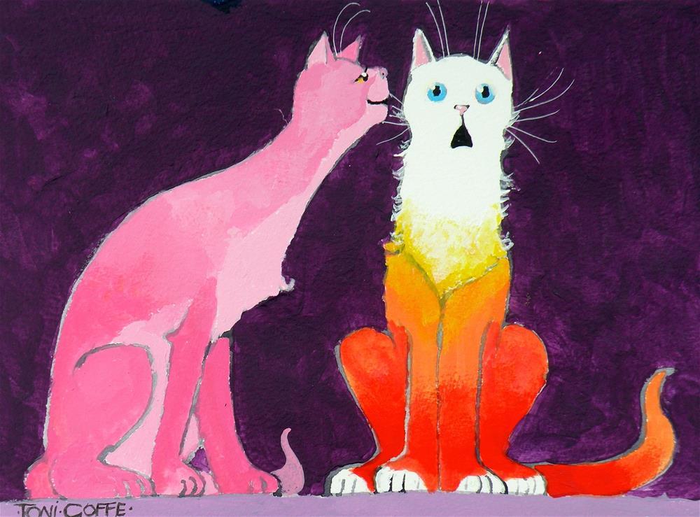 """I'm Pregnant"" original fine art by Toni Goffe"