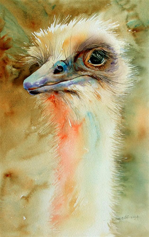 """Watchful_the Emu"" original fine art by Arti Chauhan"