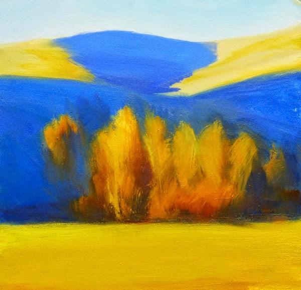 """Winter Stand 2"" original fine art by Carolyn Caldwell"