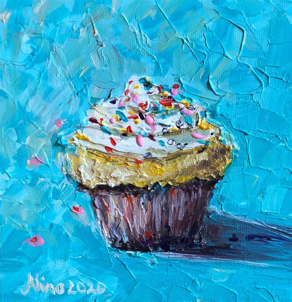 """""""Cupcake"""" original fine art by Alina Vidulescu"""