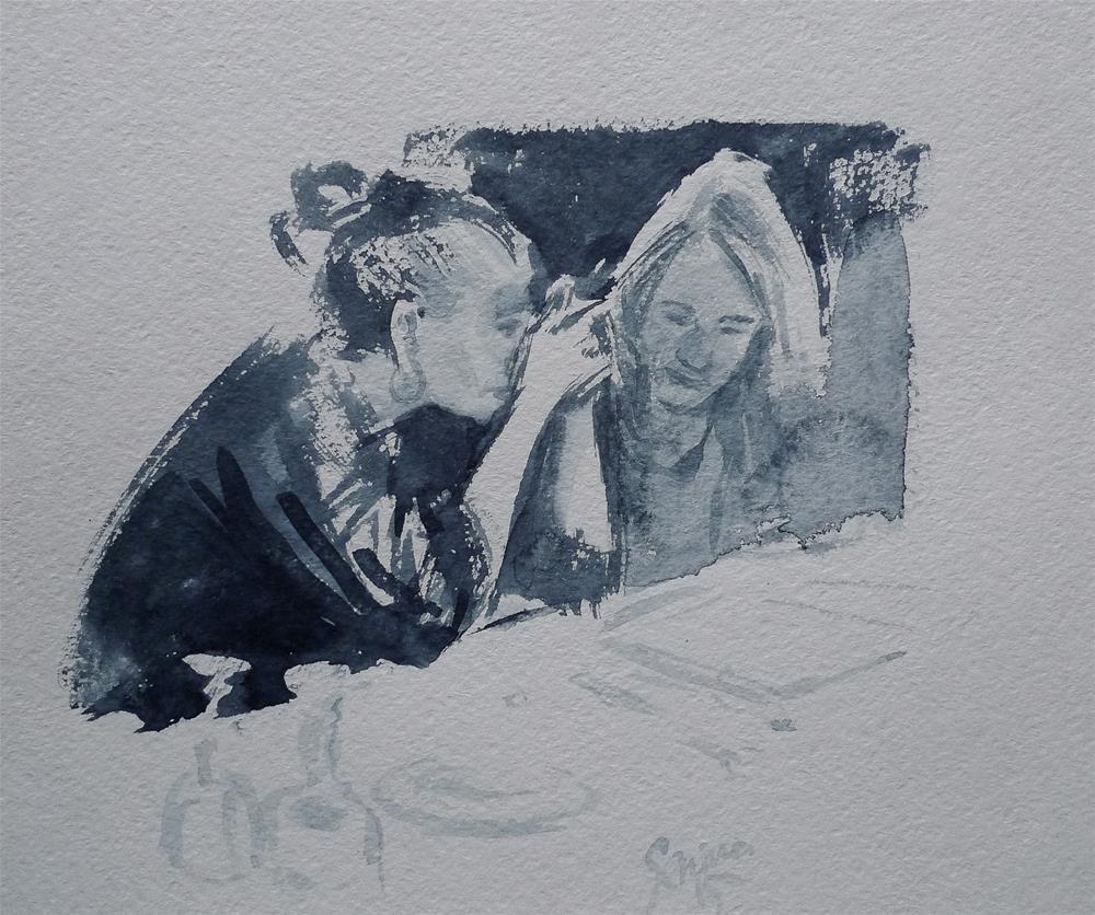 """Sketch3"" original fine art by Elena Senina"