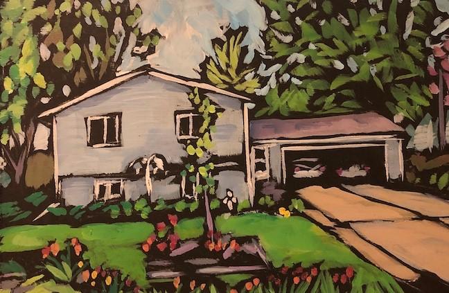 """The Childhood Home"" original fine art by Kat Corrigan"