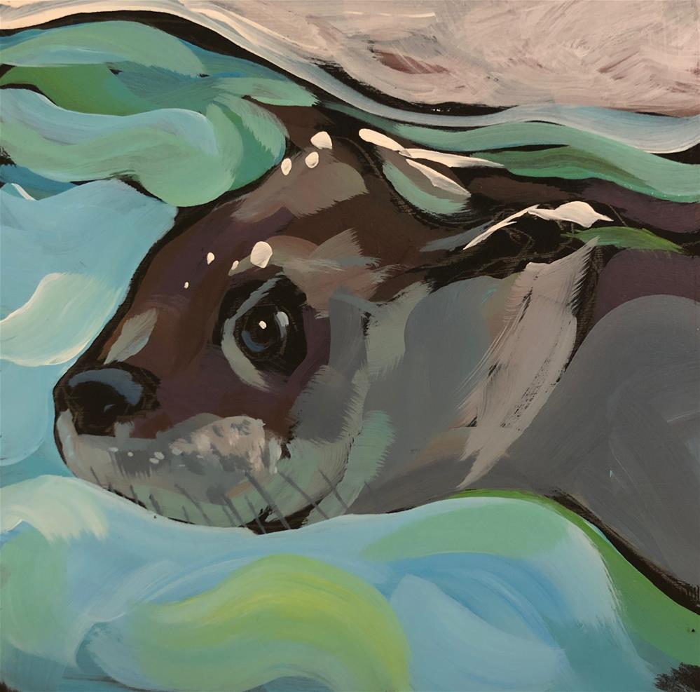 """Just a Dip Below"" original fine art by Kat Corrigan"