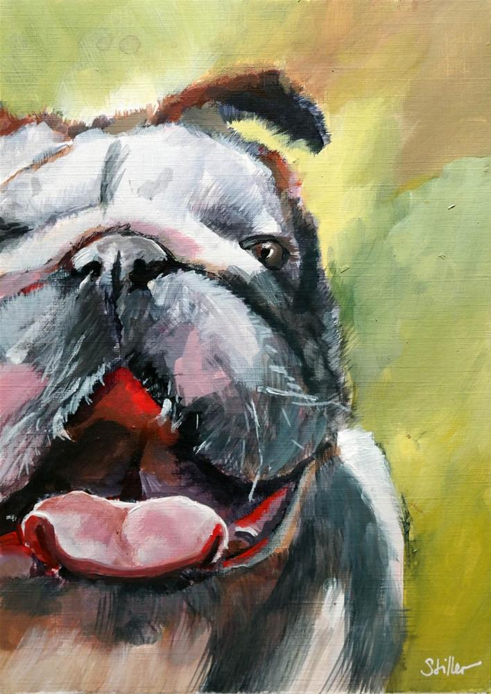 """2656 Bulldog"" original fine art by Dietmar Stiller"
