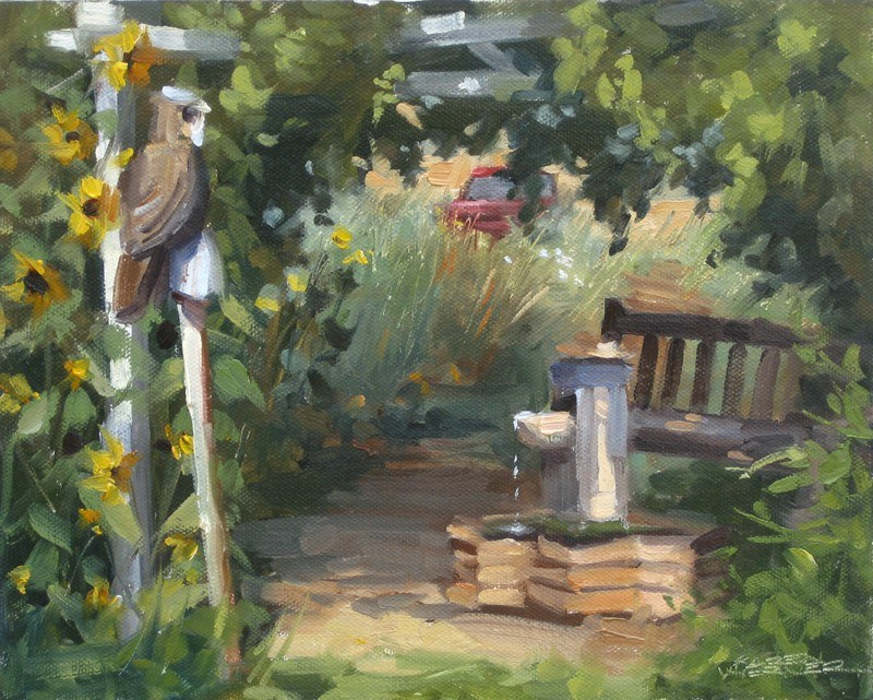 """A Shady Spot"" original fine art by Karen Werner"