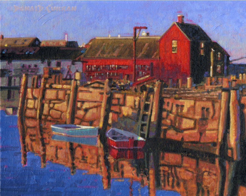 """Rockport Harbor, Massachusetts"" original fine art by Donald Curran"