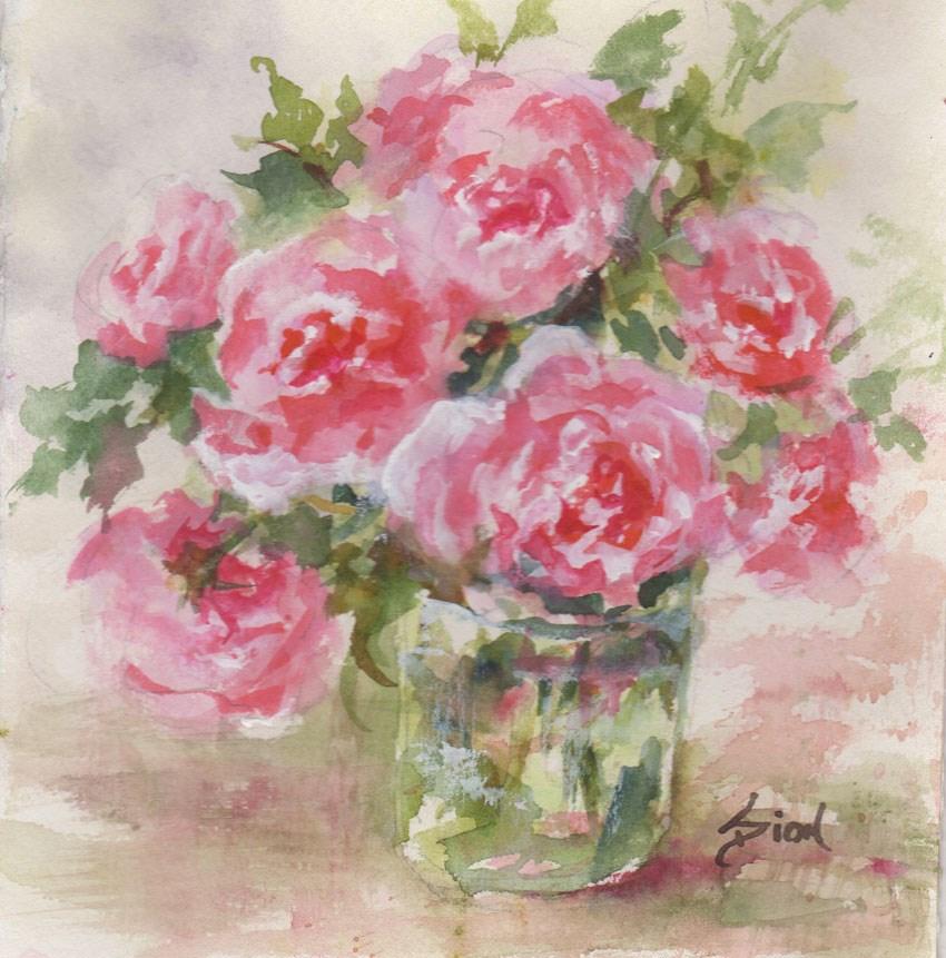 """Glory Days"" original fine art by Sue Dion"
