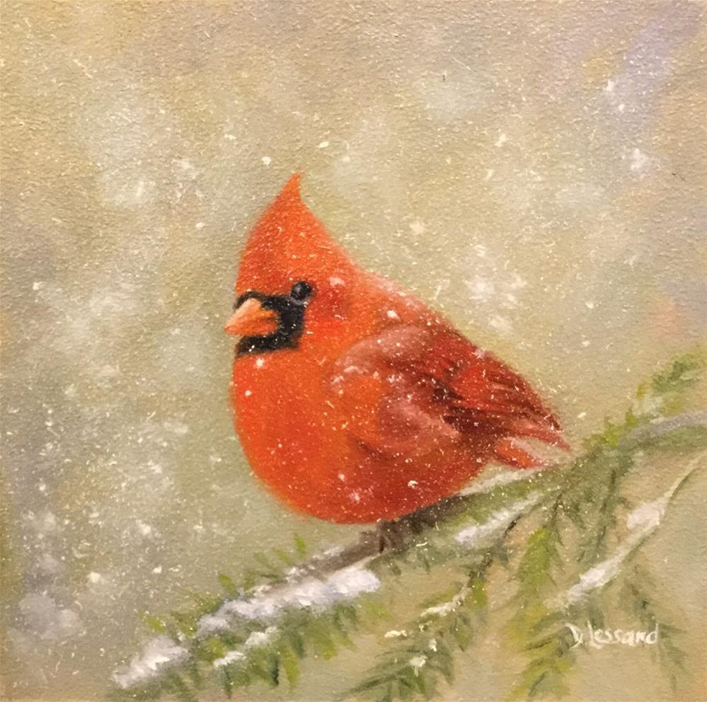 """""""Snow Bird #1614"""" original fine art by Dee Lessard"""