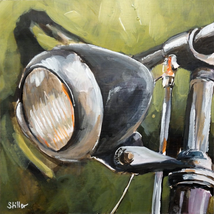 """2774 Bicycle Front Lamp"" original fine art by Dietmar Stiller"
