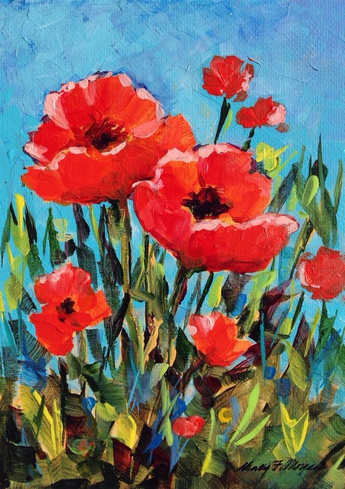 """Poppy Day"" original fine art by Nancy F. Morgan"