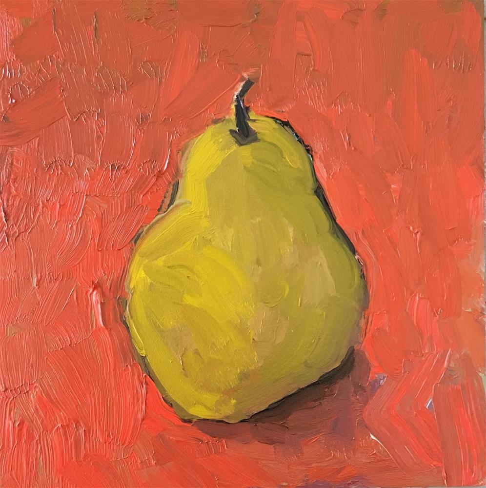 """Pear"" original fine art by Christine Parker"