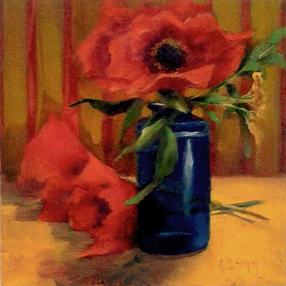 """""""Poppies"""" original fine art by A.K. Simon"""