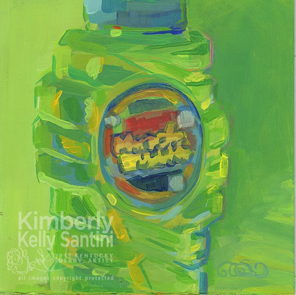 """Super Miracle Bubbles, Toy #14"" original fine art by Kimberly Santini"