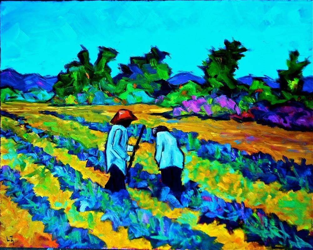"""""""Lavender Fields Becker Vineyards"""" original fine art by Liz Zornes"""