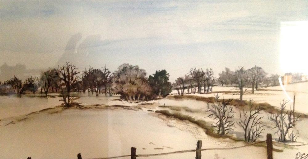 """snow in the fields"" original fine art by Betty Argiros"