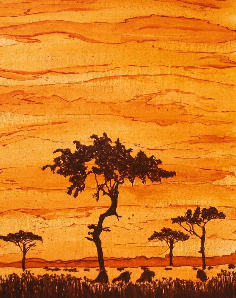 """""""Safari Sky"""" original fine art by Jan Molesky"""