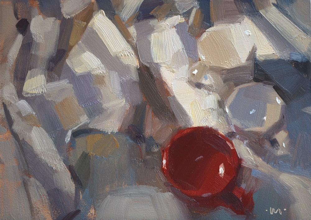 """On the Edge of Blue Stripes"" original fine art by Carol Marine"