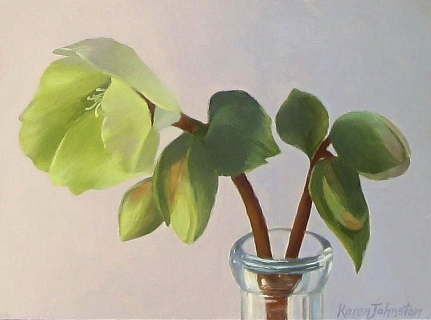 """""""Winter Rose"""" original fine art by Karen Johnston"""