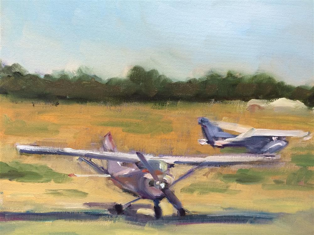 """About to take off"" original fine art by Naomi Bautista"