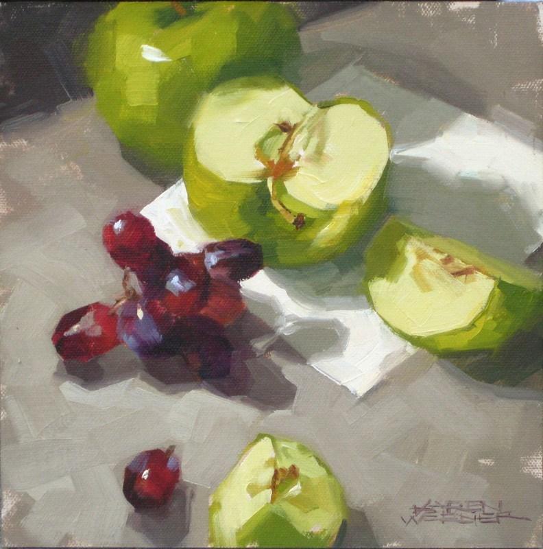"""""""Grapes & Granny """" original fine art by Karen Werner"""