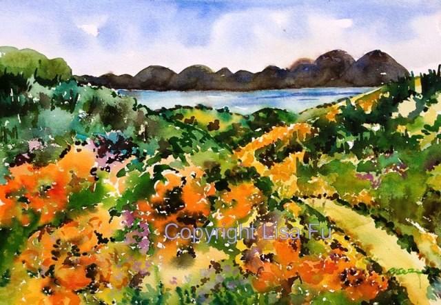 """""""Spring Blooming in California"""" original fine art by Lisa Fu"""